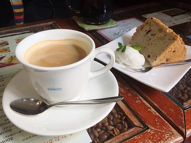 Coffee Chiffon Cake Food And Drink Drink Food Cafe Enjoying Life Japan コーヒー シフォンケーキ カフェ