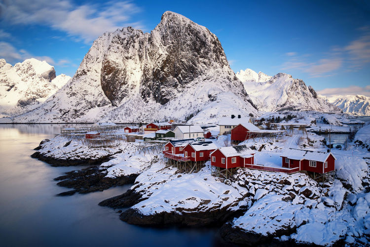 Idyllic fishing village from norway