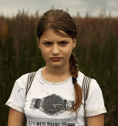 Russia Portrait Real People Casual Clothing Front View Focus On Foreground One Person Lifestyles Outdoors Leisure Activity T-shirt Young Adult Day Childhood Young Women Standing Close-up Nature People