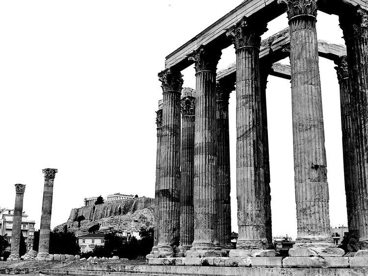 Weekend exploring in Athens, Greece. Temple Of Olympian Zeus Athens City Zeus Architecture Columns Acropolis, Athens Acropolis Black And White Ancient Greeks