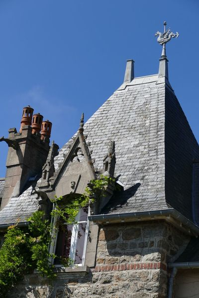 Architecture Built Structure Low Angle View Chimney Chimneys Chimney Tops Gargoyle Gargoyles Tile Tiled Roof