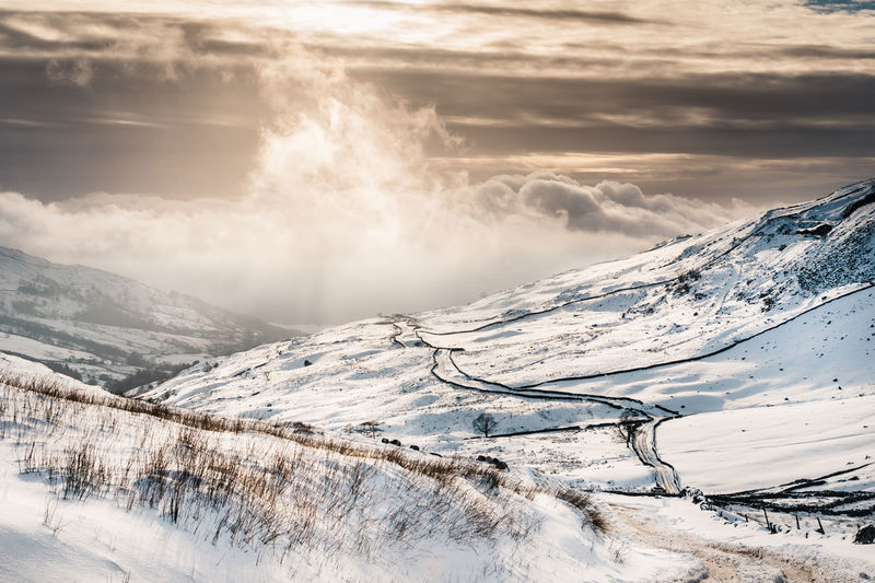 Lake District The Great Outdoors - 2018 EyeEm Awards Beauty In Nature Cloud - Sky Cold Temperature Environment Fog Idyllic Landscape Mist Mountain Mountain Peak Mountain Range Nature Non-urban Scene Snow Snowcapped Mountain Tranquility Winter