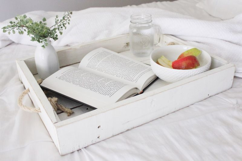 Food And Drink Healthy Eating No People Food Fruit Indoors  Book Drink Drinking Glass Freshness Day Ready-to-eat Cozy Breakfast In Bed Interior Wood White Color Books Natural Light EyeEmNewHere