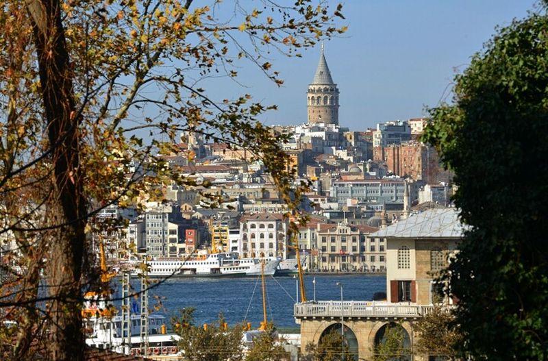 Galatatower In Istanbul Turkey Galatakulesi Sea Marmara Sea Showcase: November