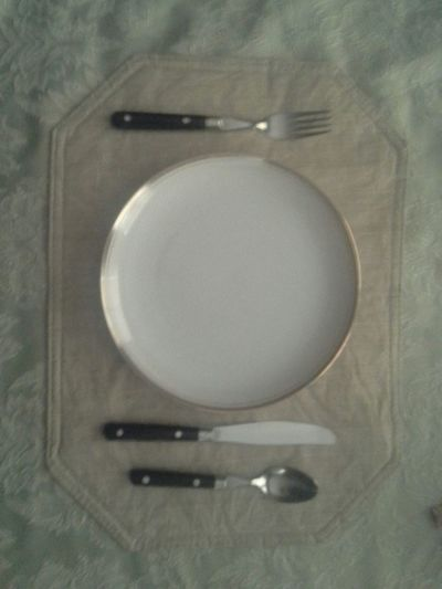 Proper Basic Tablesetting Fork Plate Knife Spoon Diningroom Table Tablecloth David Tupponce Tupponce Photography