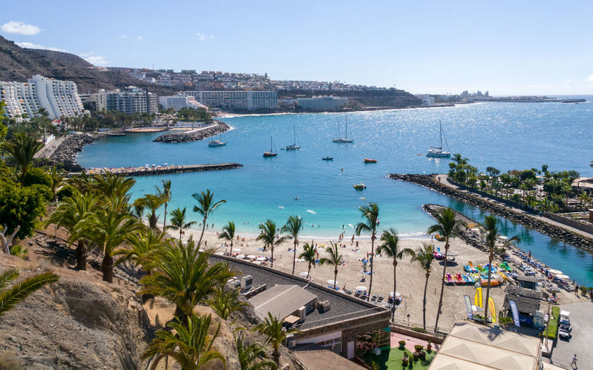 Water Architecture Built Structure Sea Tree Nature Beach Bay Gran Canaria Anfi Del Mar
