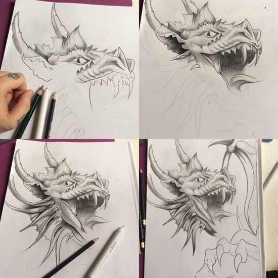 Dragon Skizze Sketch Drawing - Art Product Art And Craft Creativity Drawing - Activity Paper Pencil Drawing Human Hand Drawing Sketch Pad Indoors  One Person Human Body Part Real People Artist Skill  Close-up Day People