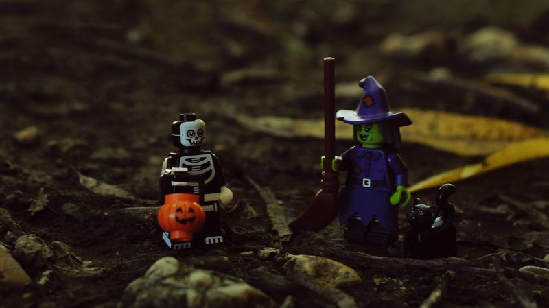 50mm 1.4 Legophotography LEGO Lego Minifigures Toy Photography Legominifigures Wickedwitch Witch Skelett Helloween Helloween ist nicht mehr weit. :)