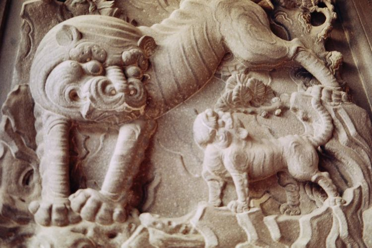A Stonework on lungshan temple's wall. Art And Craft Lukang Lungshan Temple Religion Sculpture Taiwanese Temple Architecture Film