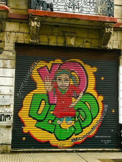Close-up of graffiti on wall
