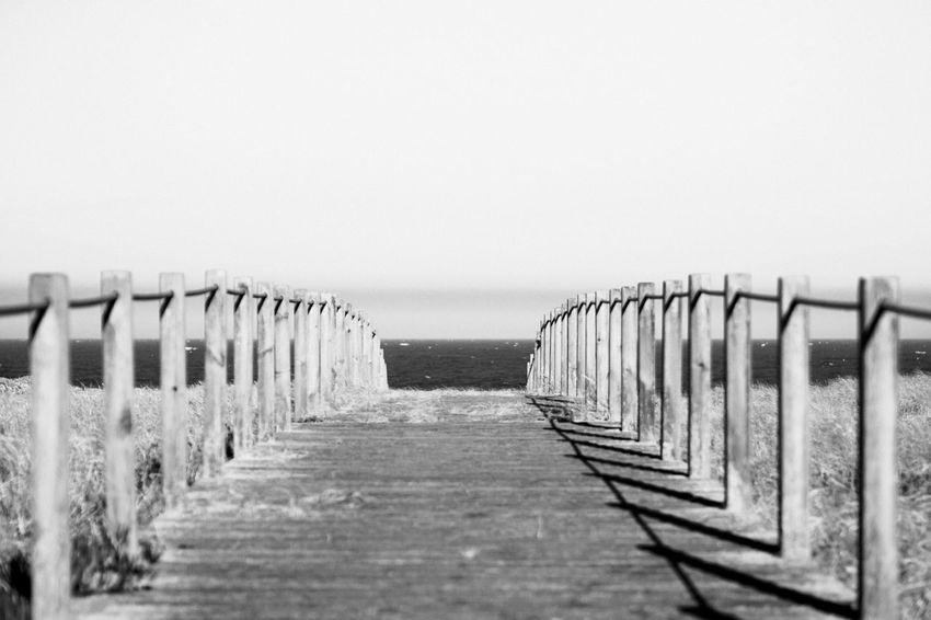 to the beach Beach Beauty In Nature Blackandwhite Clear Sky Day Fine Art Photography Horizon Over Water In A Row Monochrome Nature No People Outdoors Sea Sky The Way Forward Tranquil Scene Miles Away Hikinggalicia