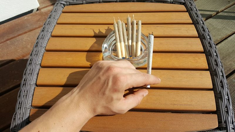 Ready for the day 😃Human Hand Hand Left Hand Close-up People Day Adults Only Table Joint Joints Ashtray  Marihuana Ganja Marijuana Weed Weed Life Dopamine Spliff Splif Smoking Veins Seven Cannabis DOPE Canna
