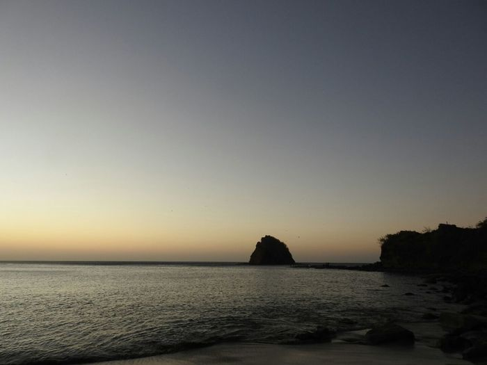 Costa Rica Guanacaste  Playa Rajada Sunset Sky Horizon Over Water