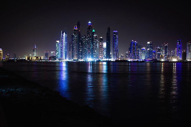 Dubai at night Dubai Dubaicity Dubaimarina Dubai Marina Dubai Palm