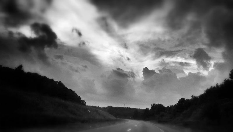 Sky Porn Sky And Clouds On The Road Black & White