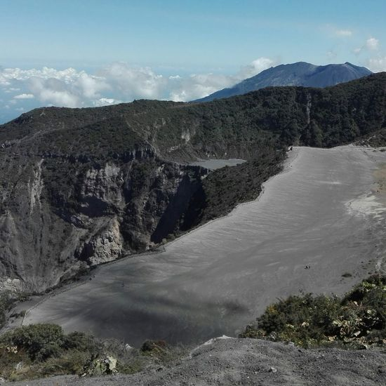 Irazu volcano Mountain Tree Water Snow Sky Landscape Cloud - Sky Volcanic Landscape Volcano Volcanic Crater First Eyeem Photo