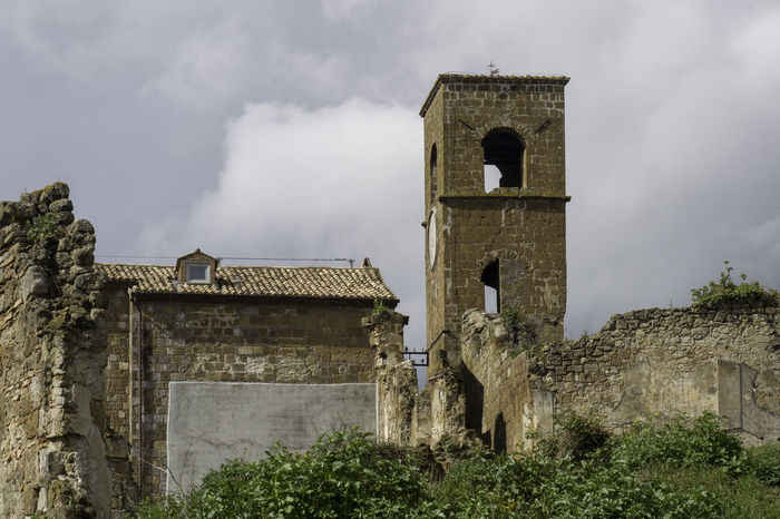 Distruction Abbandoned Ancient Ancient Civilization Architecture Belief Bell Tower - Tower Building Building Exterior Built Structure Cloud - Sky Day History Nature No People Old Outdoors Place Of Worship Religion Sky Spirituality Stone Wall The Past Village