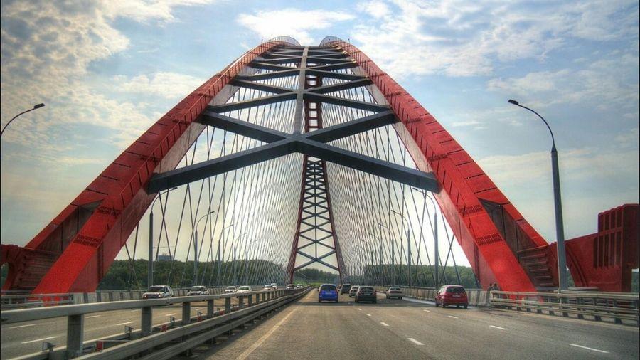 К дому. Novosibirsk Бугринский мост Road Bridge