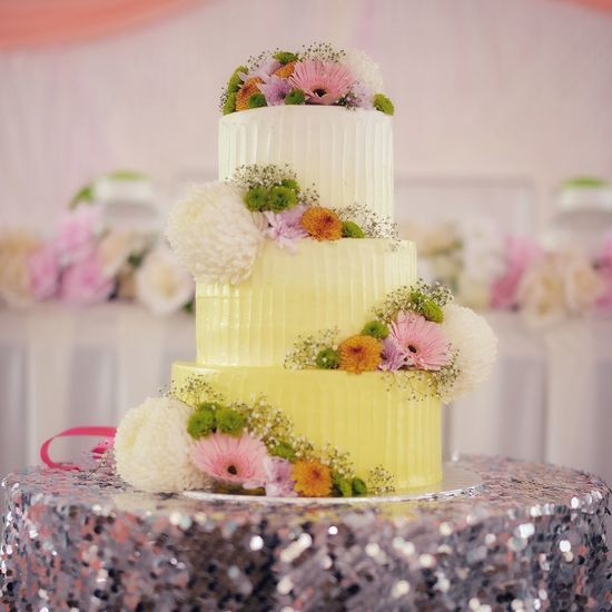 EyeEm Selects Food And Drink No People Sweet Food Indoors  Food Flower Dessert Indulgence Table Wedding Cake Pastel Colored Wedding Cake Close-up Flower Head Freshness Day