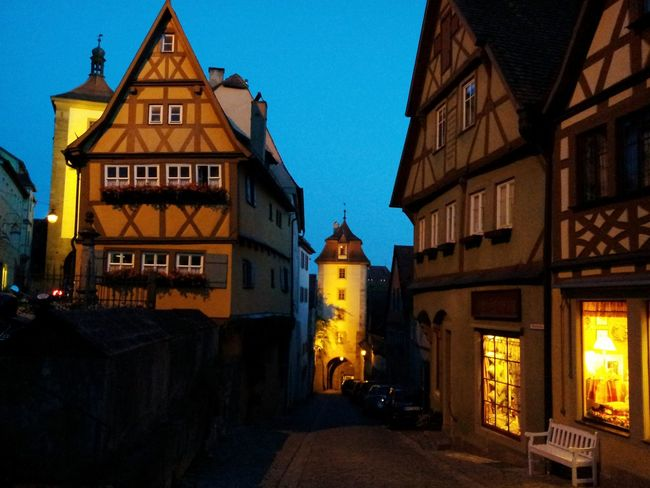 Cities At Night Seeing The Sights Rothenburg Ob Der Tauber Rothenburg