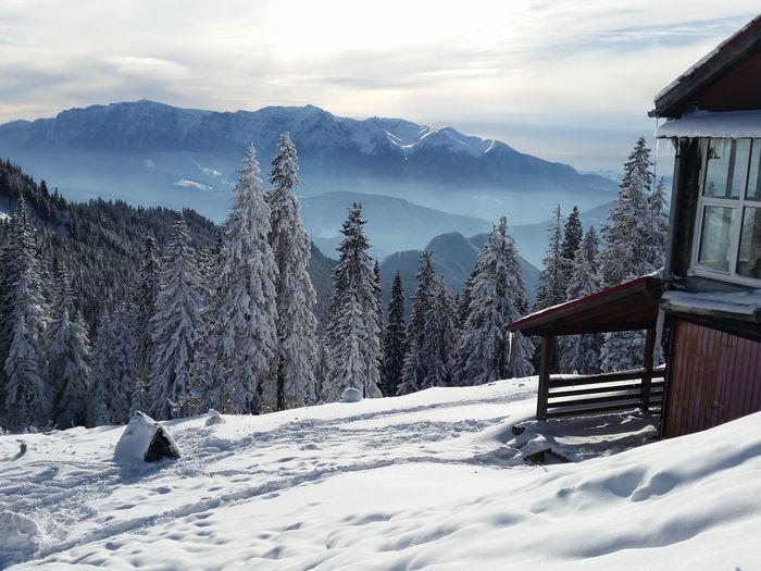 Idyllic Shot Of Mountain Against Sky Seen From Poiana Brasov