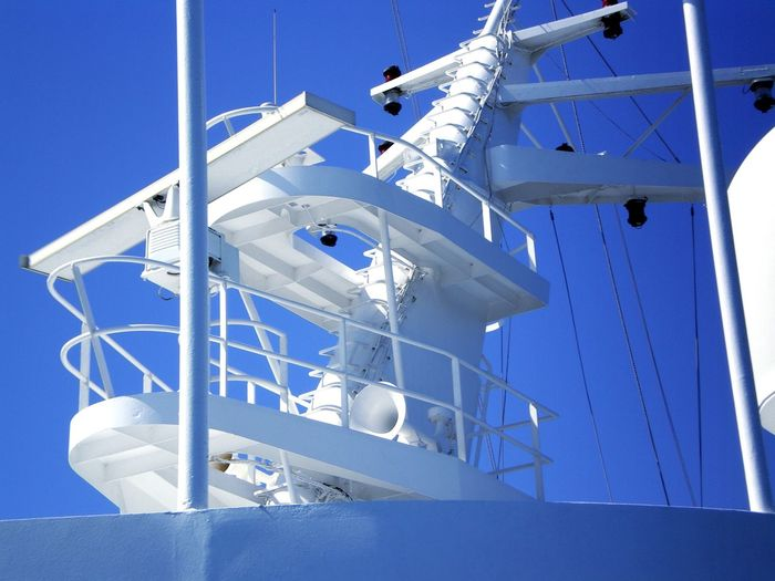 Crociera Clear Sky Blue Nautical Vessel Spiral Staircase Business Finance And Industry Sky Architecture Close-up Built Structure