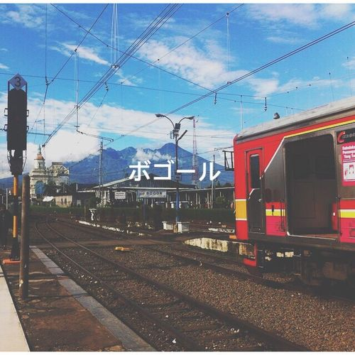 This is Bogor train station in Indonesia not Japan Transportation Bogor, Indonesia Bogor Kereta Railfans First Eyeem Photo Japan