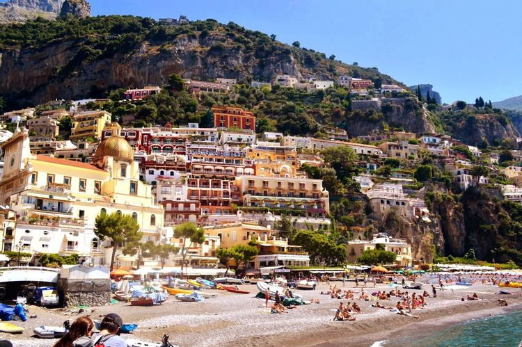 Positano Amalfi Coast Meditterranean Sea Mountain Travel Beach