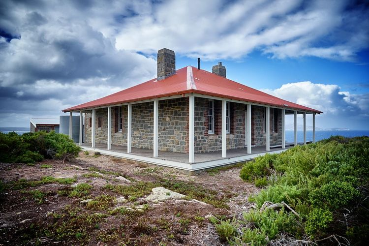 Lighthouse Western Australia Architecture Beauty In Nature Belief Building Building Exterior Built Structure Cloud - Sky Day Growth House Land Landscape Nature No People Outdoors Plant Red Scenics - Nature Sky Solitary Island Tree Two Ocean