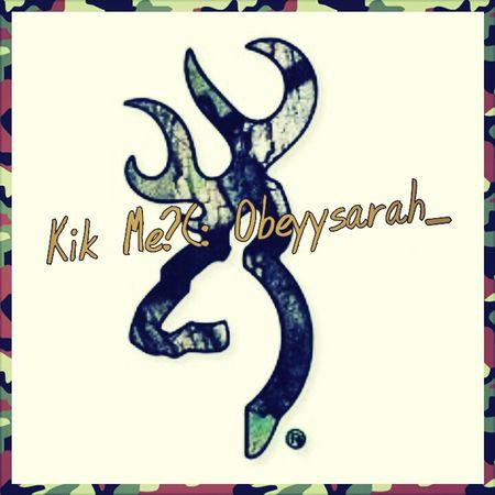 Kik me?(: Obeyysarah_