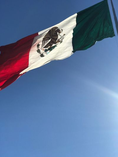 México lindo y querido. Mexico Low Angle View Sky Nature Blue Day Wind My Best Photo Flag No People Patriotism National Icon First Eyeem Photo