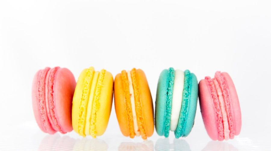 Macaroons White Background Multi Colored Food And Drink Macaroon Dessert Sweet Food