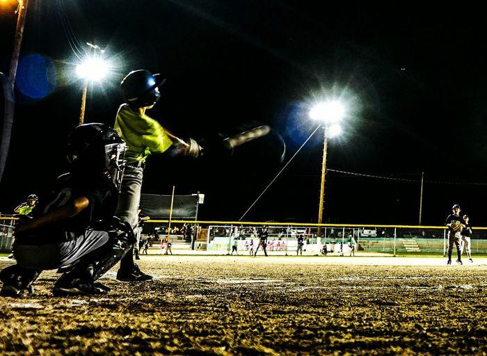 PeeWee Baseball Homerun Baseball Baseball Game Night Game Night Sports