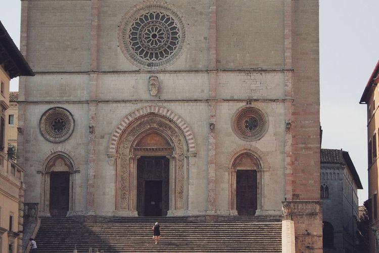 Facade of historic church