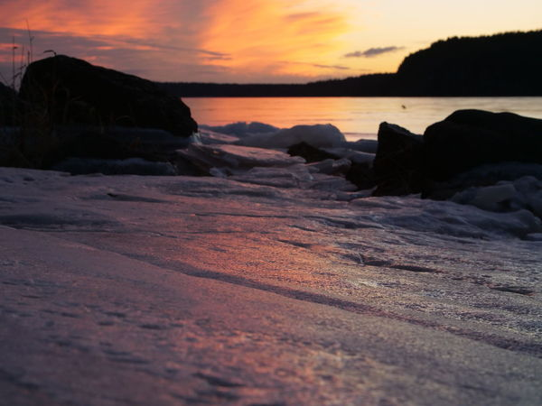 Sunset on the Kennebecasis River during Winter Ice Beach Beauty In Nature Day Frozen River Nature No People Outdoors River Scenics Sea Sky Sunset Tranquil Scene Tranquility Water Winter,