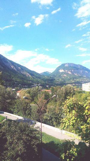 Mountain Sky Landscape Green France Isere River Nature Outdoor Photography Beauty In Nature Summer Sun Blue Sky France🇫🇷 Grenoble France Cityscape Dreaming Hello World