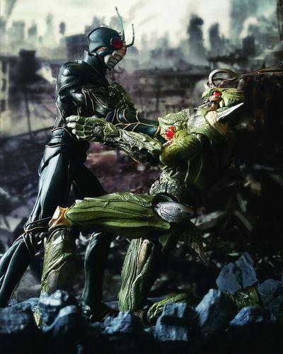 Let me borrow your body, brother Toy Photography Super Imaginative Chogokin Showa Era Tamashiinations Action Figures BANDAI Neo Organism Doras Kamen Rider Zo Toys Tokusatsu