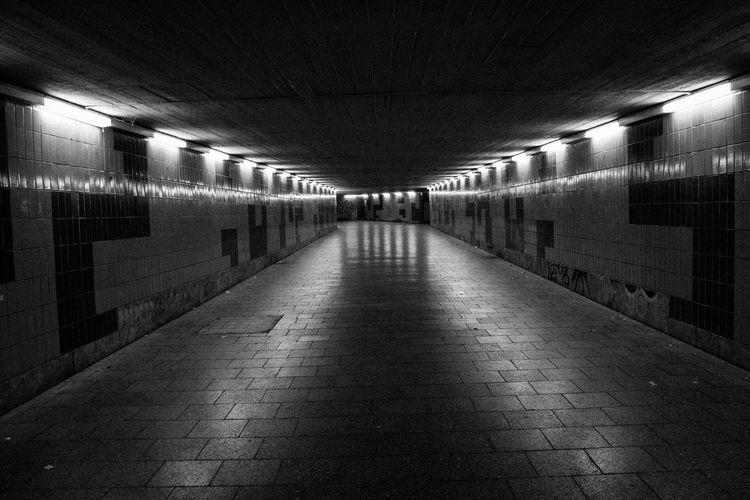 Empty subway tunnel