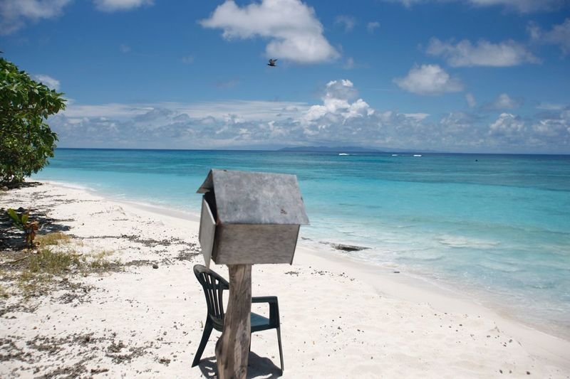 Beach Sea Sand Horizon Over Water Sky Nature Shore Tranquility Beauty In Nature Scenics Water Cloud - Sky Day Tranquil Scene Outdoors Sunlight No People Postbox Fidschi Fiji Islands Fiji Beauty In Nature