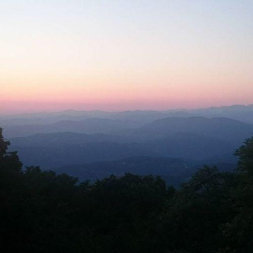 Кавказский_хребет на закате Sunset горы