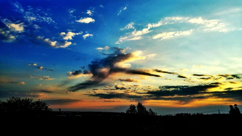 Cloud - Sky Sky Sunset Dramatic Sky Silhouette Tree Beauty In Nature Tranquility Scenics Tranquil Scene No People Nature Outdoors Colours And Patterns Newest Talent Best Photos