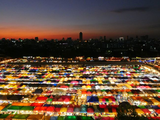colorful Night Market. Shopping Mall Shopping Street Thailand Market Night Market Night Lights Sunset Silhouettes Night Life Night Lights Nightphotography Sunset Silhouettes Colorful Bangkok Business Finance And Industry Sunset Market Sky City Night Outdoors Cityscape No People Multi Colored Urban Skyline