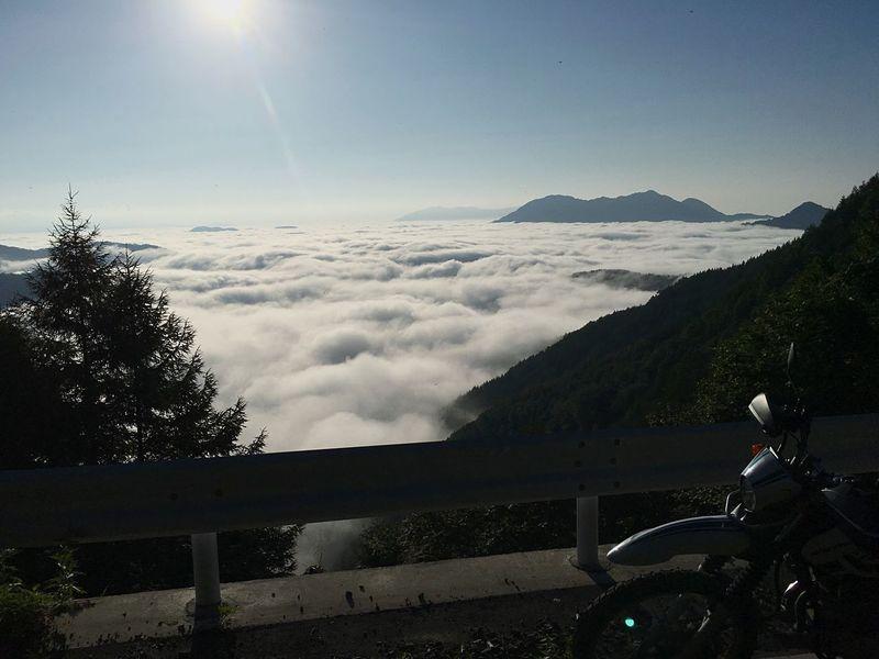 バイク Trip Mountain Road Sunlight Beauty In Nature Motorcycles ツーリング Nature Sky Scenics Mountain Tranquility Transportation Tranquil Scene Day Tree Mountain Range Outdoors No People Finding New Frontiers