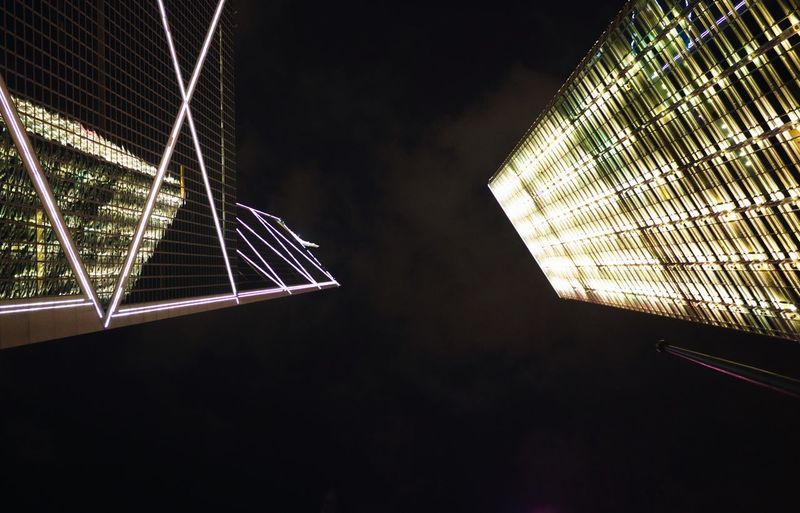 Night Illuminated Low Angle View Built Structure Architecture No People Sky