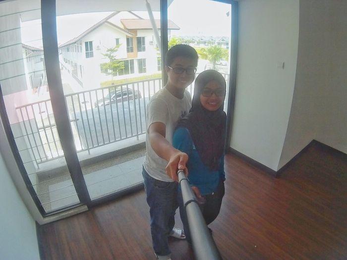 Wif hubby at new house 😍 Penang Sjcammalaysia Sjcam4000wifi Enjoying Life Hanging Out