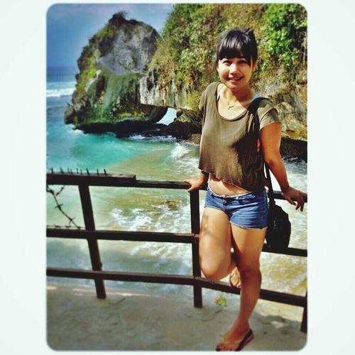 Beach...blue point berjemur..happy monday ? Enjoying Life