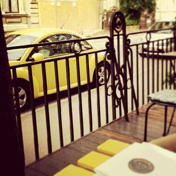 Yelow Yellow Car Table Yellow Table Vintage Tea Time Relaxing Terasse Terascafe Saturday Evening Romania Bucharest Showcase March Serendipity
