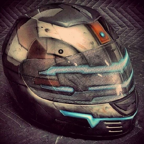 Deadspace  Helmet Customized Eagames PCGaming XboxOne PS4 Ps3 Xbox360 Bike Motorbike Gameon IGN Gamespot Kotaku Bangalore India Gaming Accessory Issacclarke Videogame  Gamer