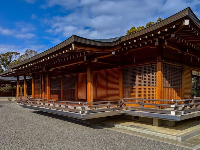 Jonangu Kyoto Japanese Shrine Taking Photos EyeEm Best Shots EyeEm Gallery From My Point Of View The Week on EyeEm Built Structure Architecture Building Exterior Sky Cloud - Sky Building No People Place Of Worship Spirituality Roof Architectural Column