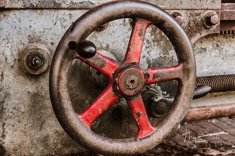 Wheel Metal Rusty Close-up No People Outdoors Old-fashioned Day Colorful Metal Structure Old Machines Rusty Metal Metal Art Old Machinery Retro Styled Colors Cogs Of Industry Cogs And Parts Art Is Everywhere